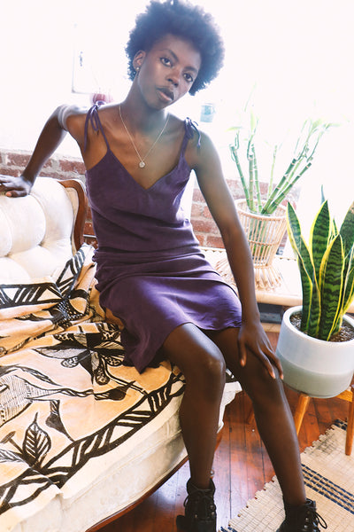 Riley Slip Dress - Violet