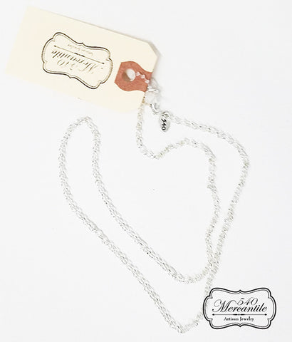 Silver Rolo Charm Necklace
