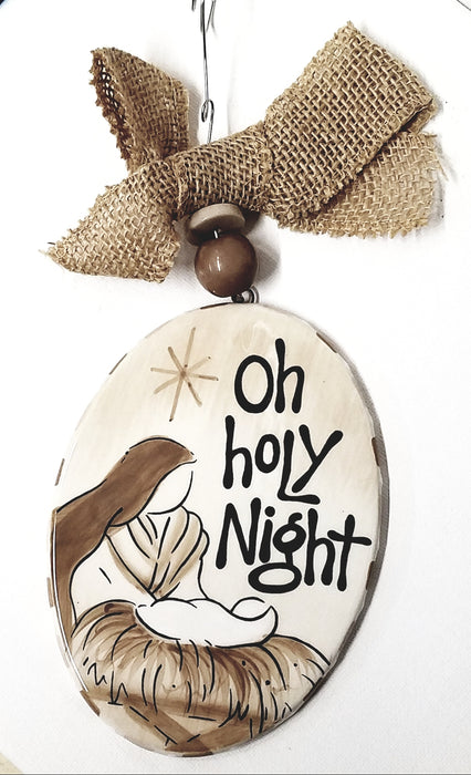 Oh Holy Night Christmas Tree Ornament