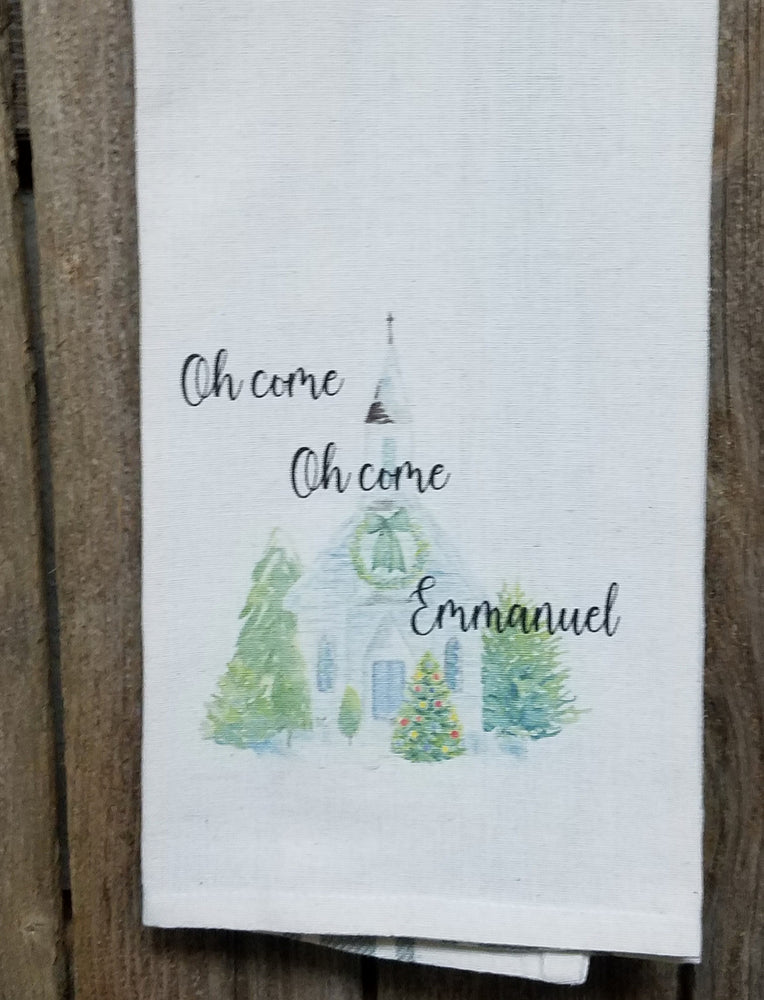 Oh come, Oh come Emmanuel Kitchen Towel