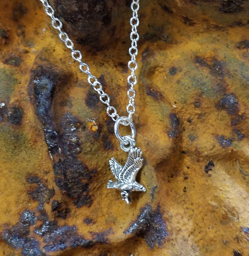 Eagle in Sterling Necklace
