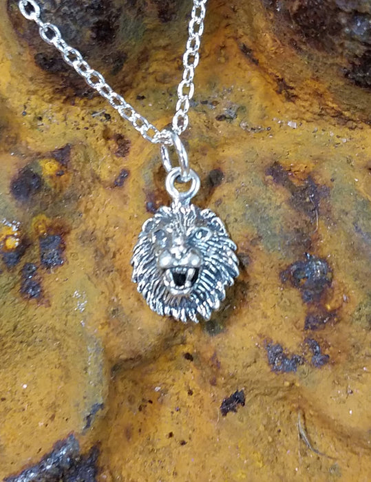 Roaring Lion  Sterling Necklace