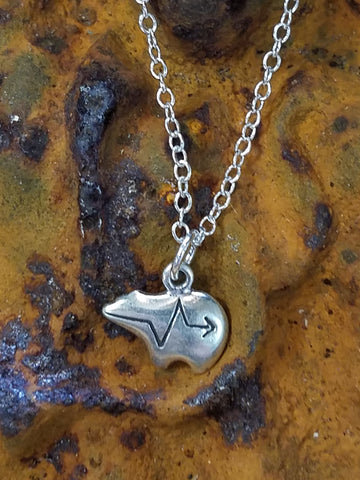 Native Bear in Sterling Necklace