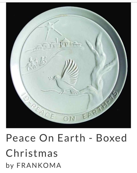 Frankoma Pottery Christmas Plate 1975,  Peace on Earth