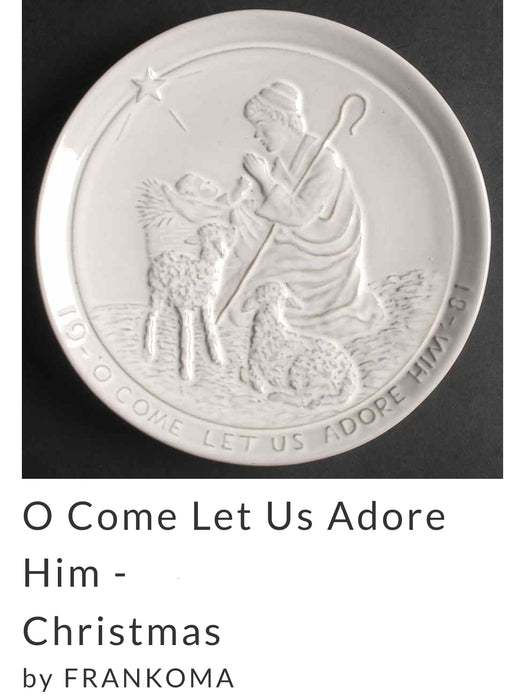 Frankoma Pottery Christmas Plate 1981, O Come Let Us Adore Him