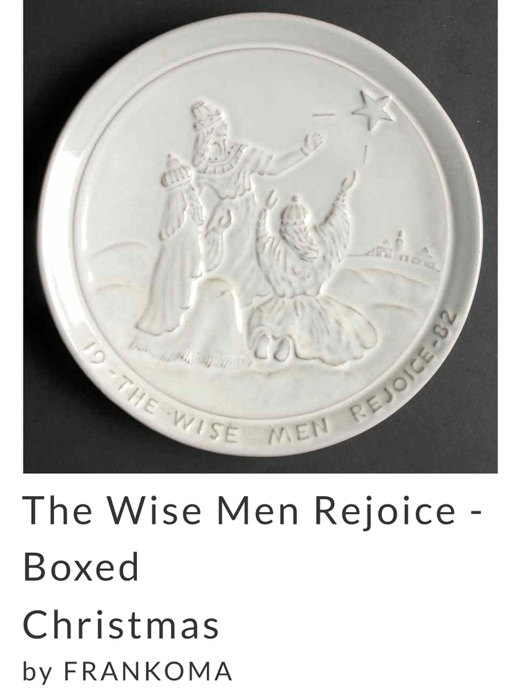 Frankoma Pottery Christmas Plate 1982, The Wise Men Rejoice