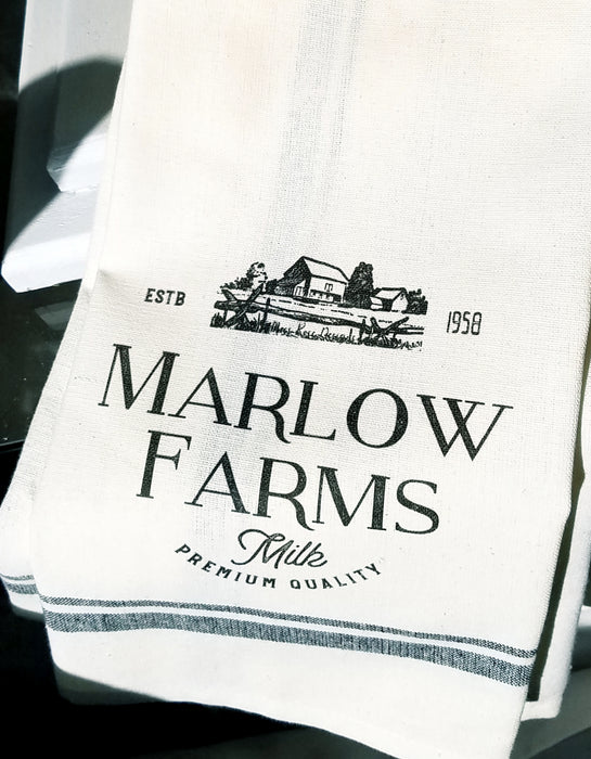 Marlow Farms Premium Quality Milk Kitchen Towel