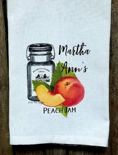 Martha Ann's Peach Jam Kitchen Towel