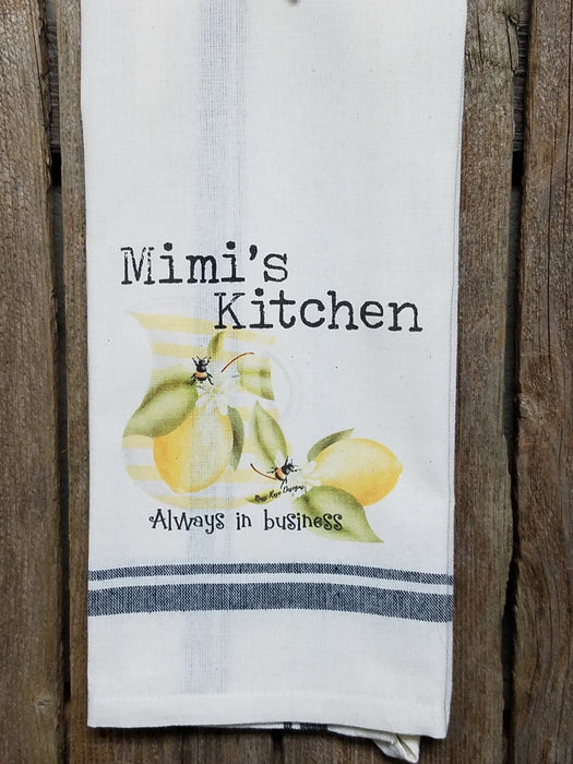 Mimi's Kitchen Lemonade and Bees Kitchen Towel