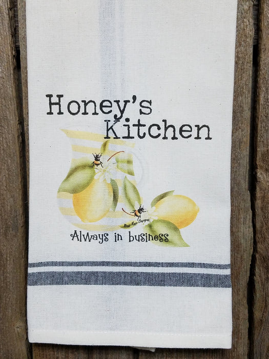 Honey's Kitchen Lemonade and Bees Kitchen Towel