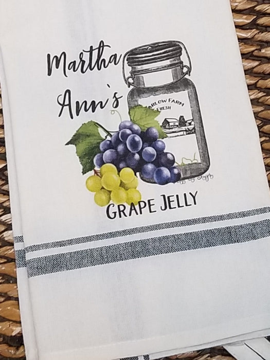 Martha Ann's Grape Jelly Kitchen Towel