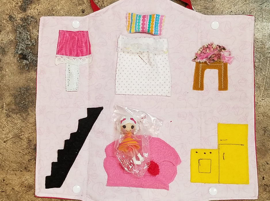 Doll House Purse Quiet Toy  with Doll
