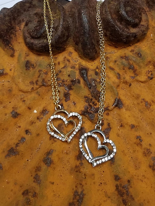 Sparkle Double Heart Necklace