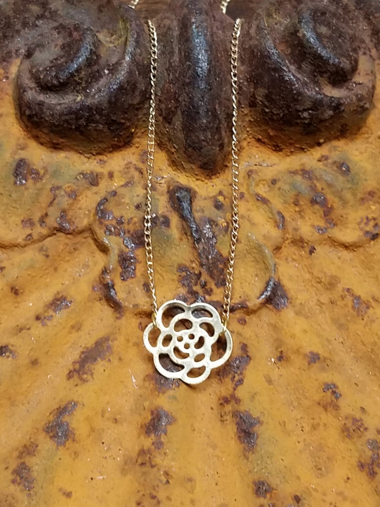 Fretwork Flower Necklace