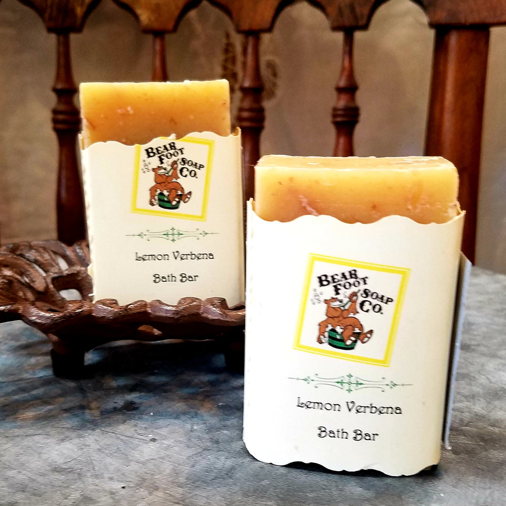 Lemon Verbena Hand crafted Soap by Bear Foot Soap Co
