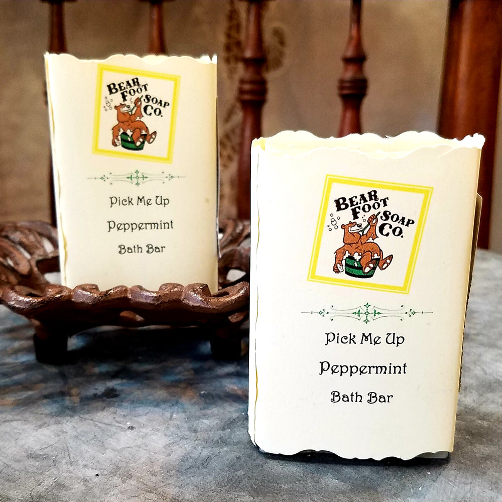 Pick Me Up Peppermint Hand crafted Soap by Bear Foot Soap Co
