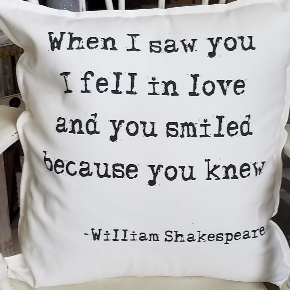 When I Saw You I Fell in Love Pillow