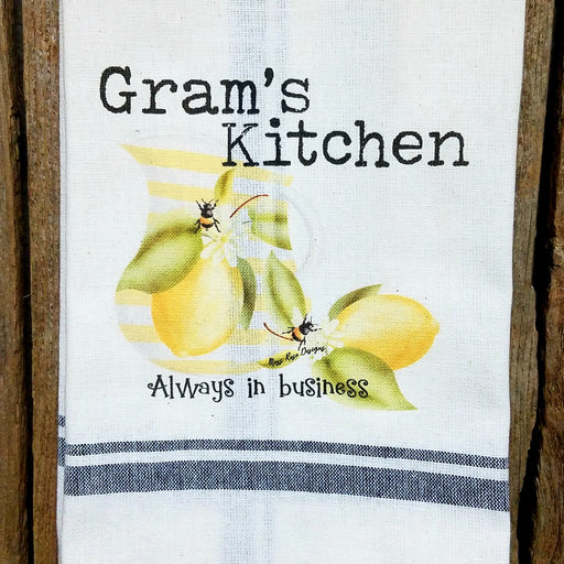 Gram's Kitchen Lemonade and Bees Kitchen Towel