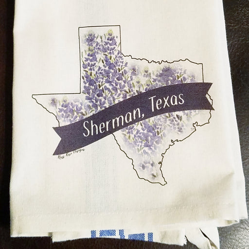 Sherman Texas Bluebonnet Kitchen Towel