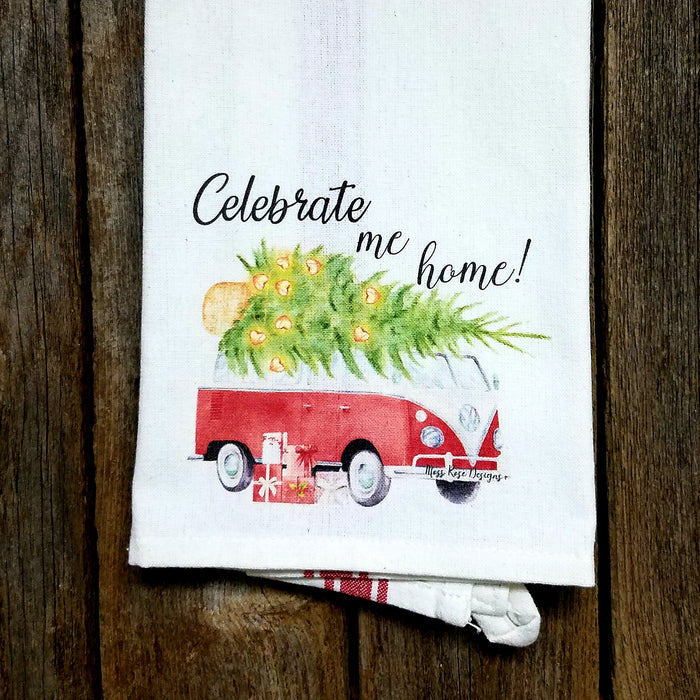 Celebrate Me Home VW Van Kitchen Towel