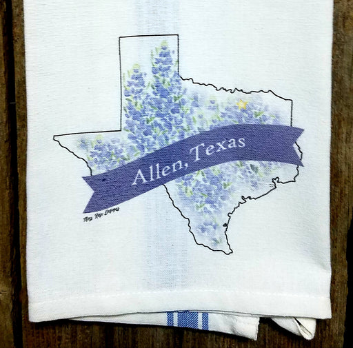 Allen Texas Bluebonnet Kitchen Towel