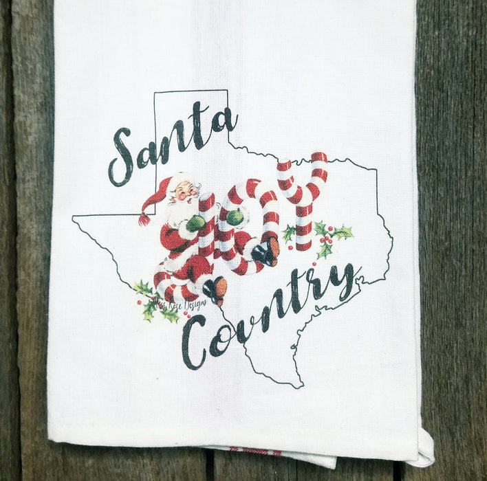 Santa Country Joy Kitchen Towel