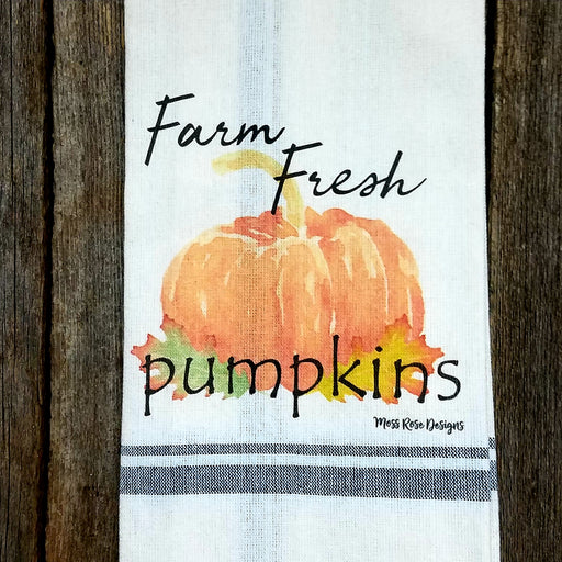 Farm Fresh Pumpkins Kitchen Towel