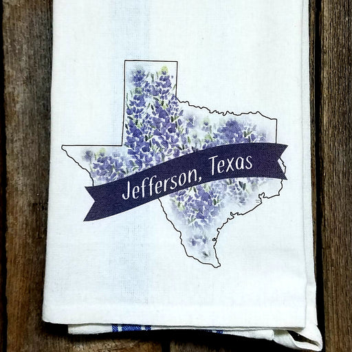 Jefferson Texas Bluebonnet Kitchen Towel