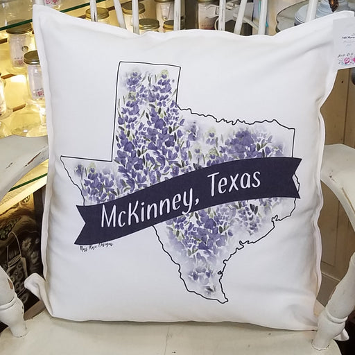 McKinney Texas Blue Bonnet Pillow