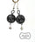 Black Filigree Focal with Smokey Drop Dangle Beaded Earrings