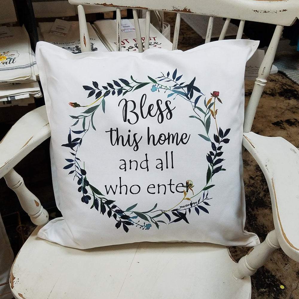Bless This Home and All Who Enter Pillow