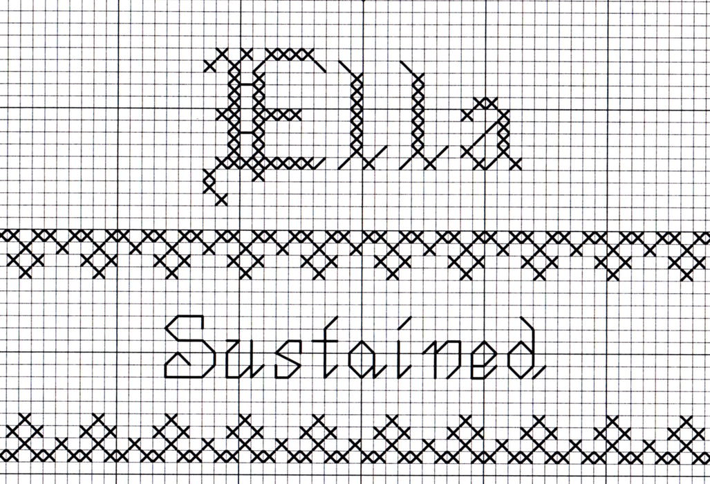 Cross Stitch Name Graph - Ella with Name Meaning and Scripture