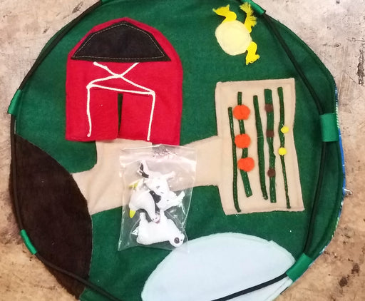Drawstring Farm with Animals Quiet Toy