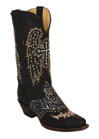 Ferrini Ladies Embossed Wings V-toe Western Boots