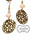 Foral Disk Beaded Dangle Earrings