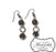 Garnet Glass Beaded Dangle Earrings