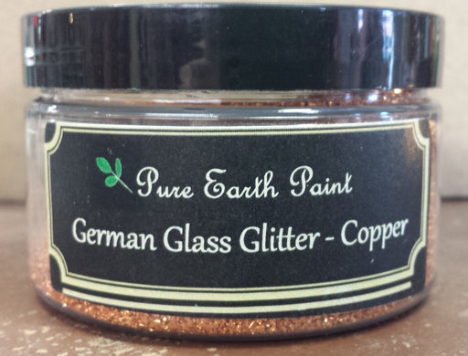 German Glass Glitter in Copper from Pure Earth Paint