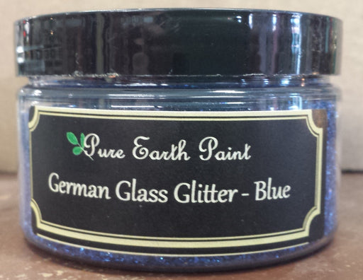 German Glass Glitter in Blue from Pure Earth Paint