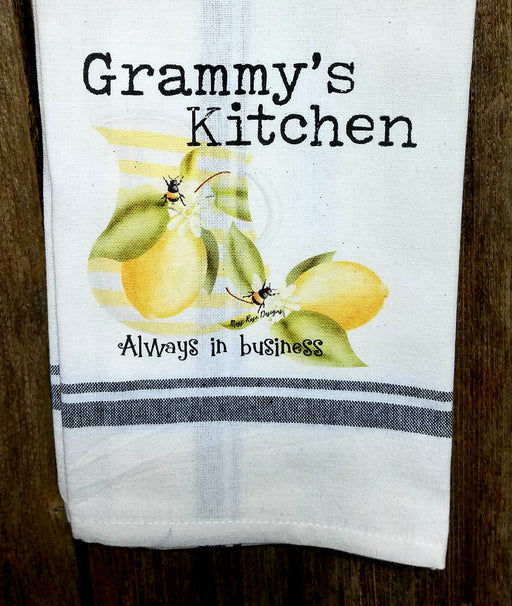 Grammy's Kitchen Lemonade and Bees Kitchen Towel