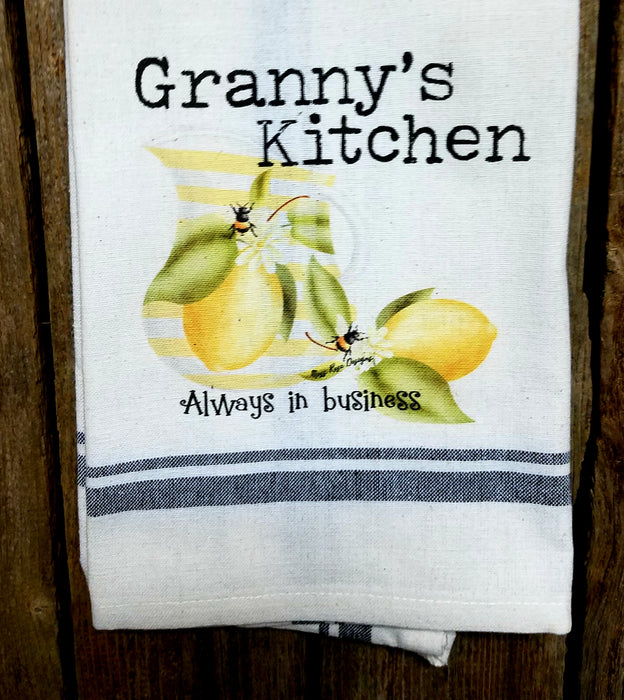 Granny's Kitchen Lemonade and Bees Kitchen Towel