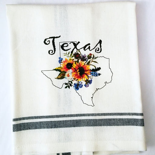 Texas Sunflower Kitchen Towel