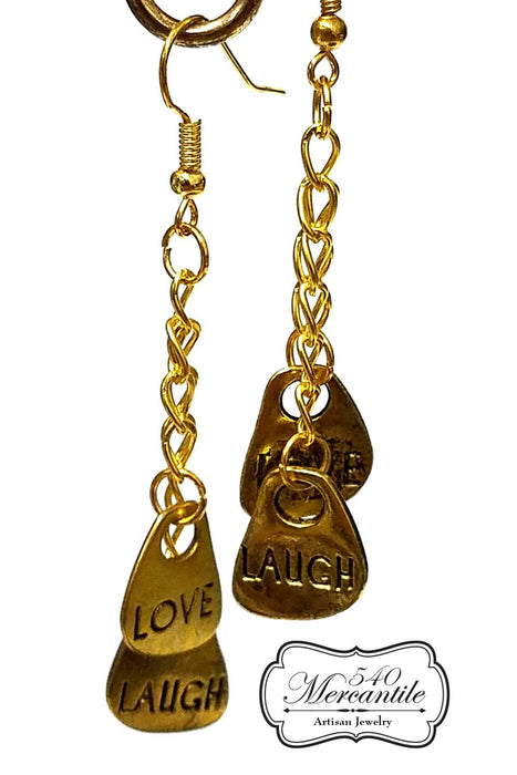 Love Laugh Dangle Earrings