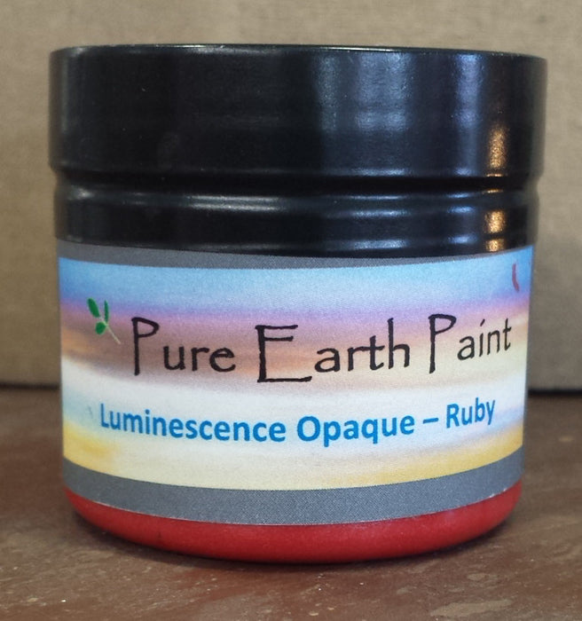 Ruby Opaque Luminescence Pure Earth Paint
