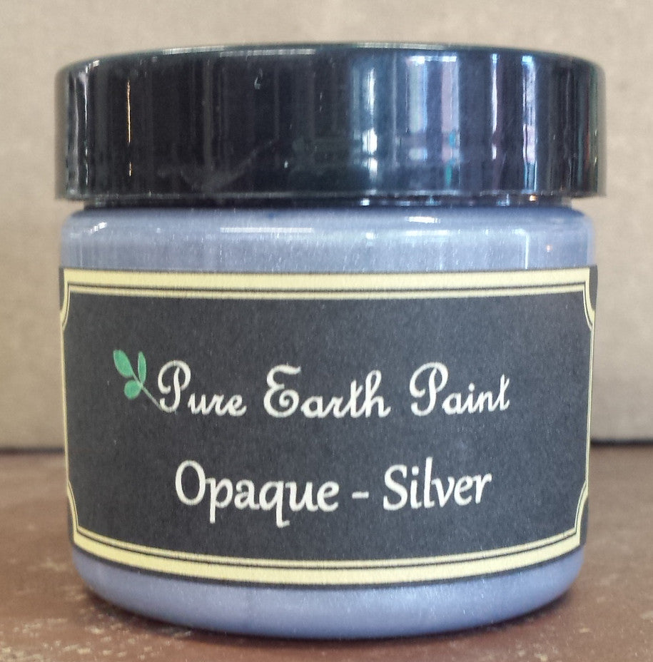 Silver Opaque Luminescence Pure Earth Paint