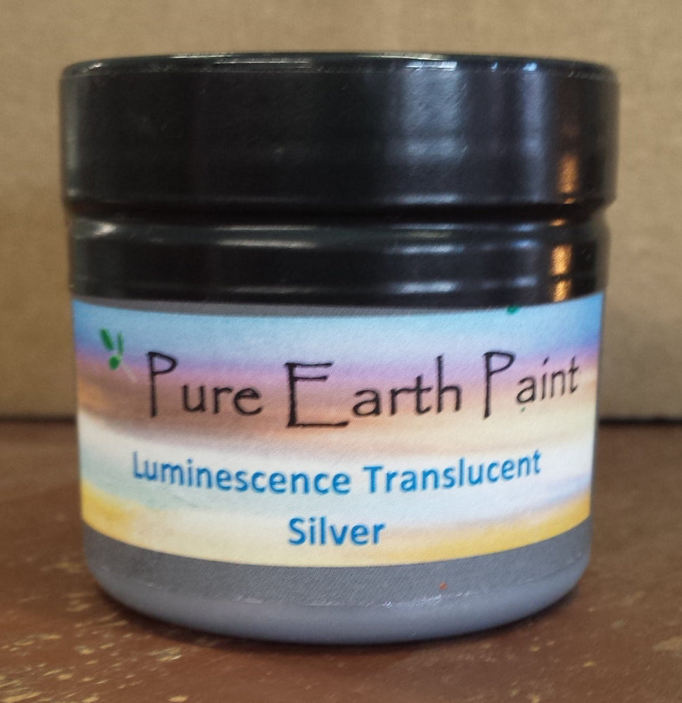 Silver Translucent Luminescence Pure Earth Paint