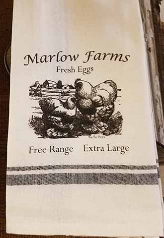 Marlow Farms Fresh Eggs Kitchen Towel