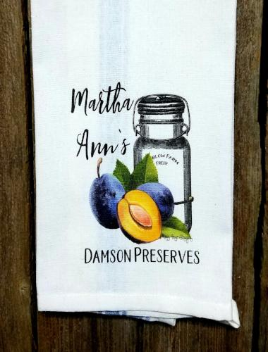 Martha Ann's Damson Preserves Kitchen Towel
