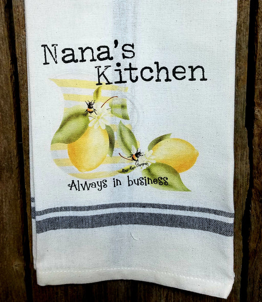 Nana's Kitchen Lemonade and Bees Kitchen Towel