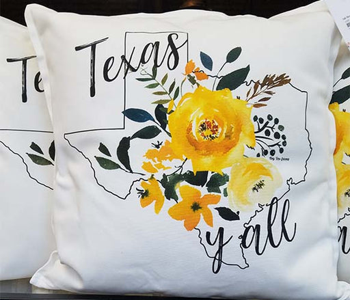 Yellow Rose of Texas Ya'll  Pillow