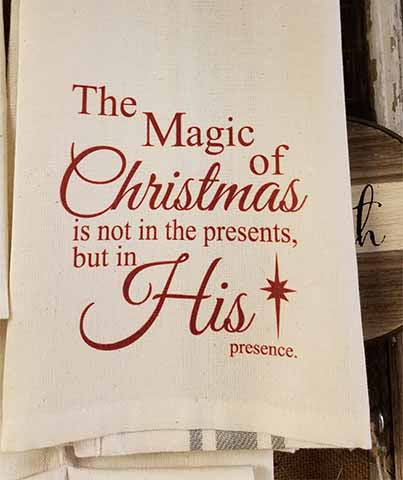 The Magic of Christmas Kitchen Towel